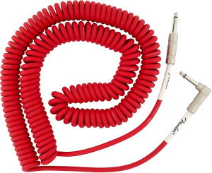 Fender Original Series Coil Cable Instrument Cable  30 Ft - Fiesta Red