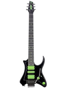 Traveler V88X Vaibrant Deluxe Electric Compact Guitar - Cosmic Black