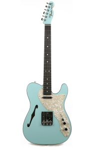 Fender American FSR Limited Two-Tone Telecaster Thinline Daphne Blue