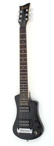 Hofner Shorty Deluxe Guitar - Black