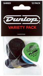 Dunlop PVP118 Shred Pick Variety Pack - 12 Pack