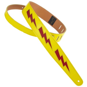 Henry Heller Bolt Series Leather Strap Yellow/Red