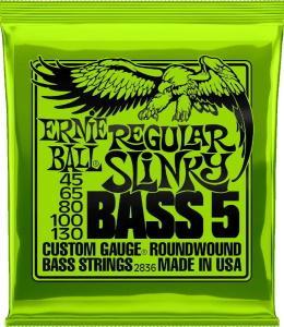 Ernie Ball 2836 Regular Slinky 5-String Bass Strings .45 - 130