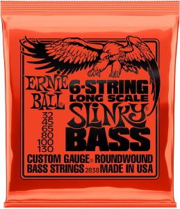Ernie Ball 2838 Slinky 6-String Bass Strings 32 45 65 80 100 130
