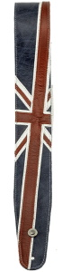 Daddario 25PRL03 Premium Leather Guitar Strap Union Jack