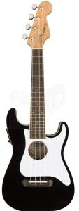 Fender Fullerton Strat Concert A/E Ukulele Black