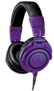 Audio Technica ATH-M50x Purple & Black