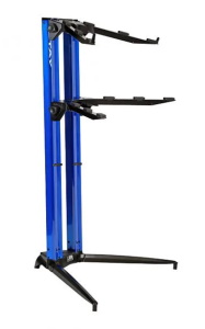 Stay STAY206 Piano Series 44 Double Tier Keyboard Stand Blue