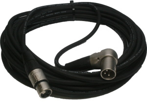 Rapco CRM1-25FX Right Angle Low Z XLR Cable
