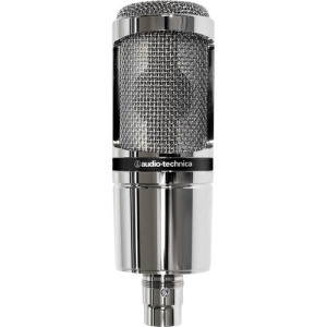 Audio Technica AT2020V Side Address Studio Mic Limited Edition Reflective Silver