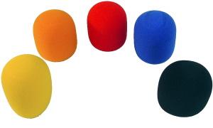 ProRock Gear Ball Mic Windscreen Asst Colors  (5-Pack)