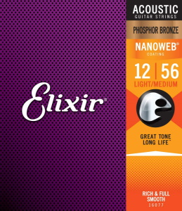 Elixir Acoustic 80/20 Phosphor Bronze with NANOWEB Coating - Light / ML