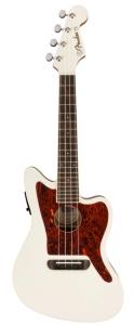 Fender Fullerton Jazzmaster Ukulele A/E Olympic White