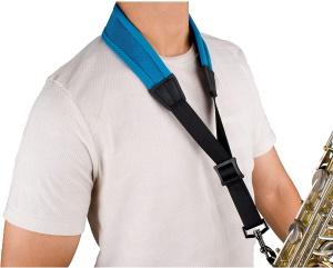 Protec Less-Stress Ballistic Neoprene Sax Strap -Teal Blue
