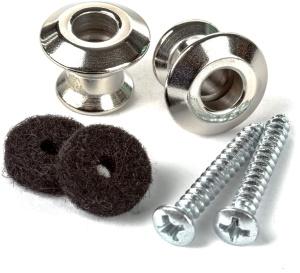 Dunlop Straplok Dual Design Strap Button Set- Nickel-2/Set