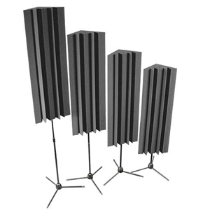 Stand-Mounted LENRD  Bass Traps - Charcoal