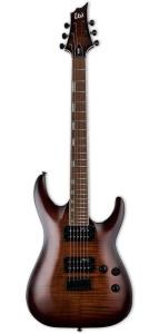 ESP LTD H-200 Flamed Maple Electric Guitar Dark Brown Sunburst