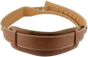 Pete Schmidt BJ-101-1C Handmade Leather Banjo Strap Brown