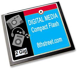 Lifetime Memory 2 GIG Compact Flash Card