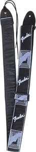 Fender Black, Light Gray & Metallic Blue Guitar Strap