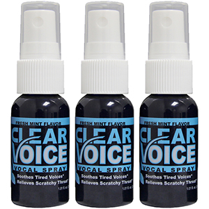 Clear Voice Vocal Lubricant - 3 Bottles Fresh Mint