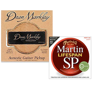 Martin SP 7100 Phosphor Bronze Acoustic Strings & Dean Markley Acoustic Guitar Pickup [msp7100]