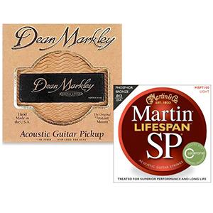 SP 7100 Phosphor Bronze Acoustic Strings & Dean Markley Acoustic Guitar Pickup