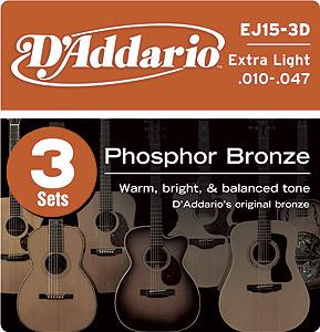 Daddario EJ15 3D - (3 Sets)