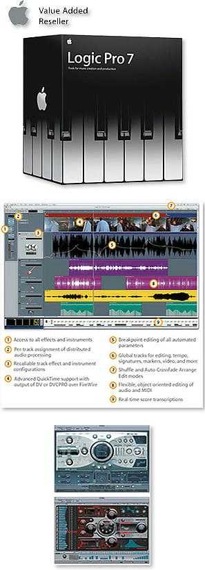 Apple Logic Pro 7.2 Upgrade from Platinum or Gold versions 5 or 6 or Logic Pro 6 [MA331Z/A]