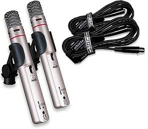 Akg C1000S Original pair & 2 whirlwind 20ft mic cables