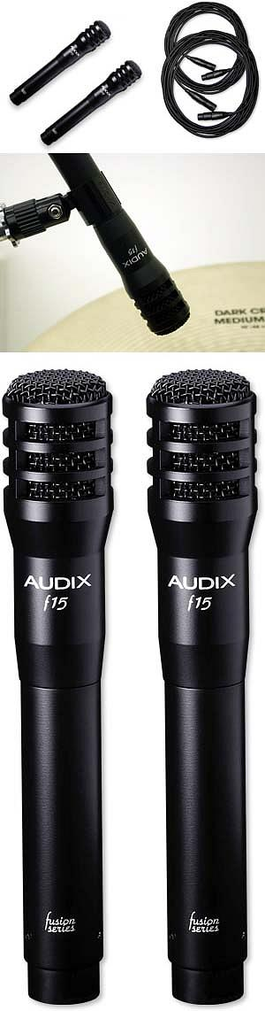 Audix F15 Pair w/Cables [F15]