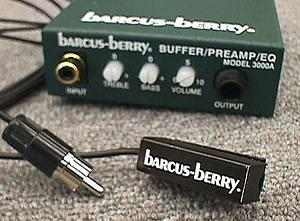 Barcus Berry 5600 Clarinet Sax or Harmonica Electret Mic w/ Preamp