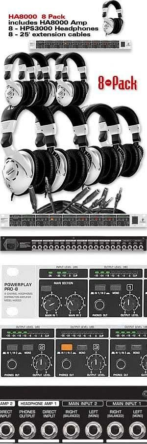 Behringer HA8000  8 Pack