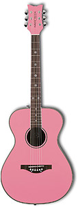 Daisy Rock Pixie Acoustic Left Handed - Powder Pink [6200L]