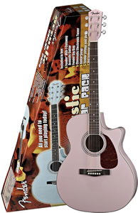 Fender DGA1 Acoustic Guitar Pack - Pink Finish [0970500048]