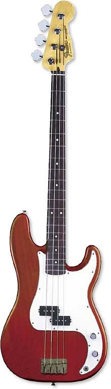 Fender Highway 1 US Special P-Bass® - Crimson Transparent Finish RN