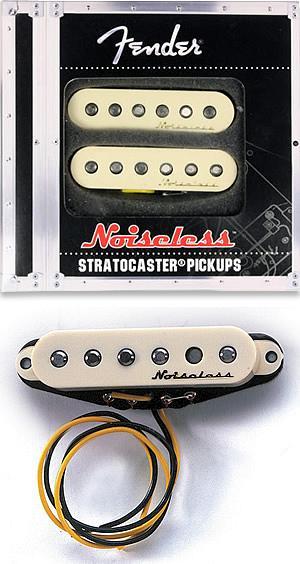 Strat Noiseless Pickup Set Creme Color
