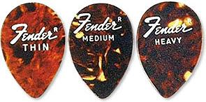 Fender 358 Jazz Pick Shell-Medium (6 dz)