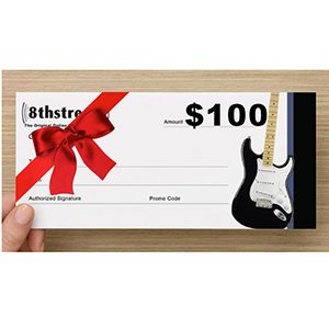 8th Street Music $100 Gift Certificate