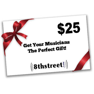 8th Street Music $25 Gift Certificate