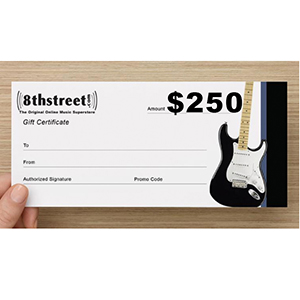 8th Street Music $250 Gift Certificate