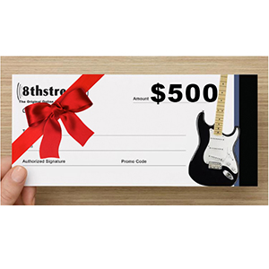 8th Street Music $500 Gift Certificate