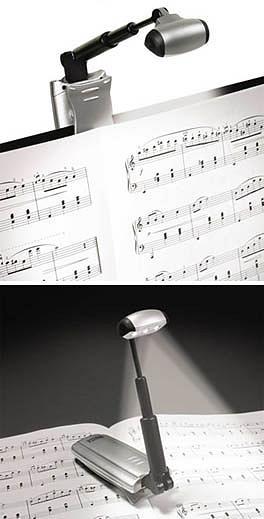 Triple LED Music Stand Light Black