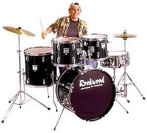 Hohner Rockwood Drum Set - Black