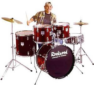 Hohner Rockwood Drum Set in Burgandy