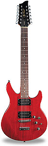 Jay Turser Hawk 12 - Transparent Red [JT-HAWK12-TR]