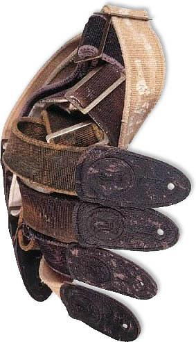 Levys Tear Wear Guitar Strap Brown [MC8TW-BRN]