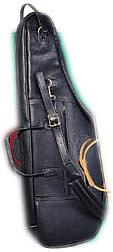 Levys LM200a Leather Alto Sax Bag Black