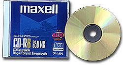 Maxell Single Blank CDR Disc