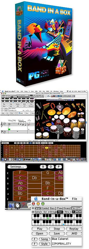 PG Music Band in a Box Version 12 MegaPAK - Macintosh